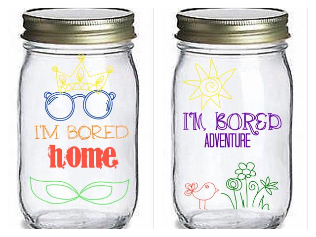 "I M Bored Jar: The ""IM BORED"" Jar. Keep Your Kids Busy!"